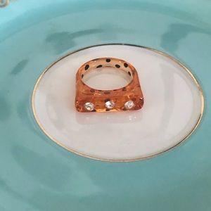 Vintage Tortoise Lucite Ring